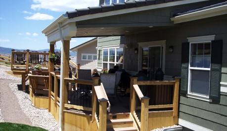 Custom Deck with Roof Cover