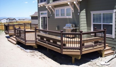 Multi-Level Deck with Inset Benches