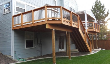 Custom Elevated Deck Decks Patios